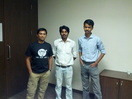 From L to R: Purvesh Shah, Akshay Bhalshankar and Ankit Javalakar